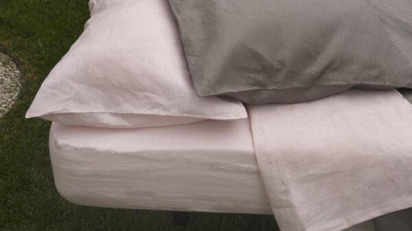 """Alt=""""fundas almohada lino rosa."""""""