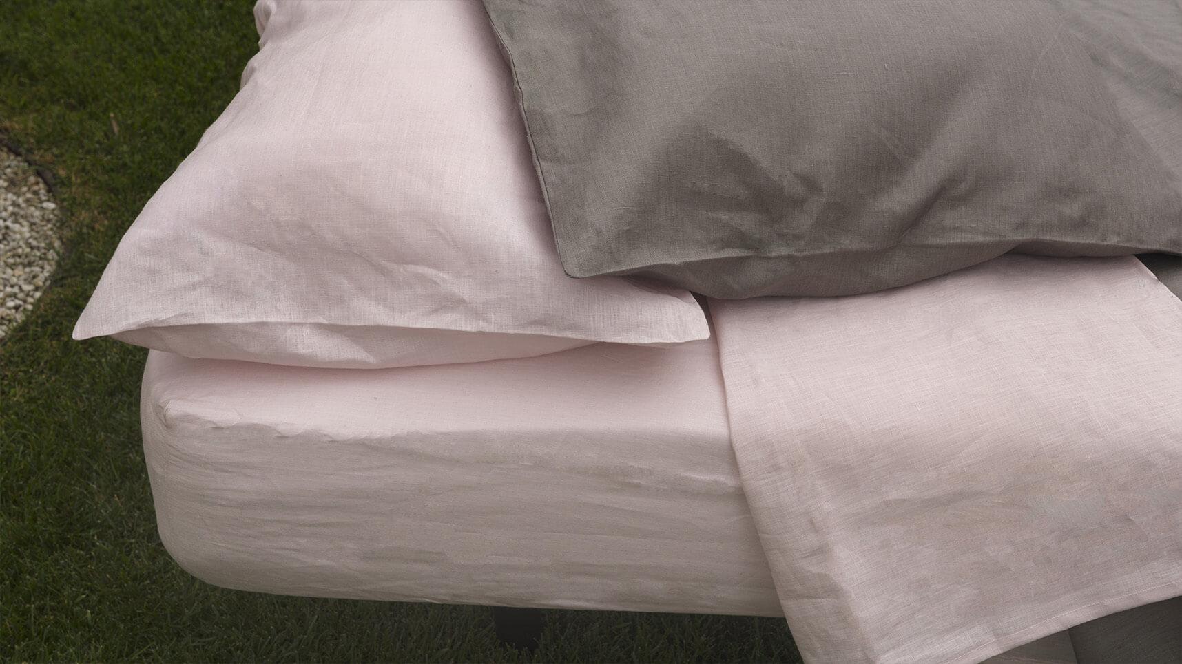 """Alt=""""pink linen pillowcases."""""""