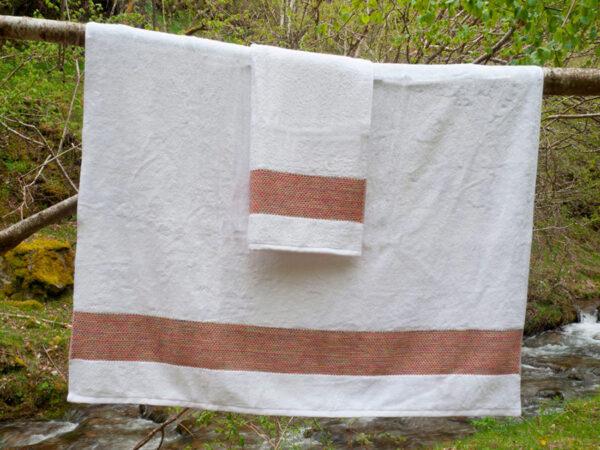 Toalla de fibra de bambú y algodón