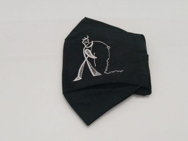 Mascarillas-de-tela-de-color-negro-lino